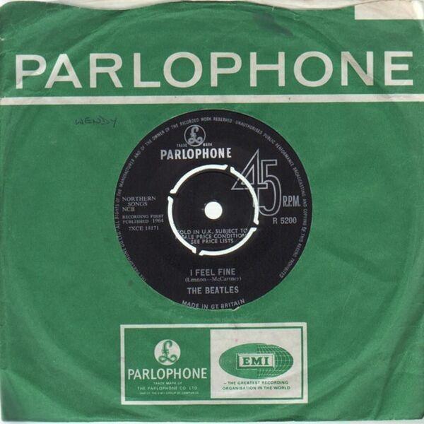 The Beatles I Feel Fine (1ST UK PRESSING, COMPANY SLEEVE)