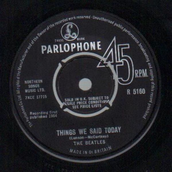 The Beatles A Hard Day's Night / Things We Said Today (ORIGINAL UK)