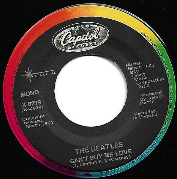 The Beatles Can't Buy Me Love (BLACK RAINBOW LABEL)