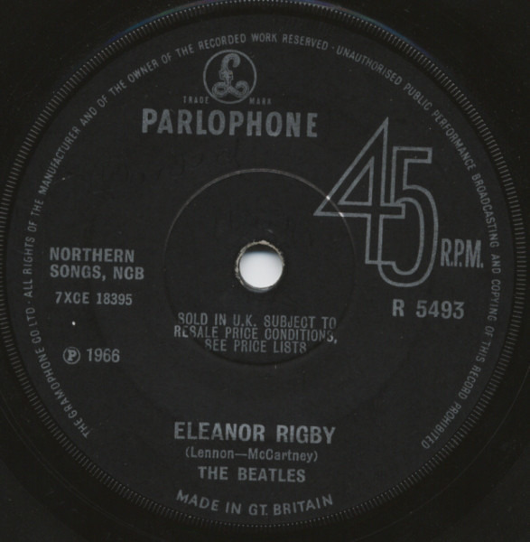The Beatles Eleanor Rigby / Yellow Submarine (SOLID CENTRE)