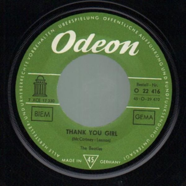 The Beatles From Me To You (ARTIST SLEEVE, 1ST GERMAN)