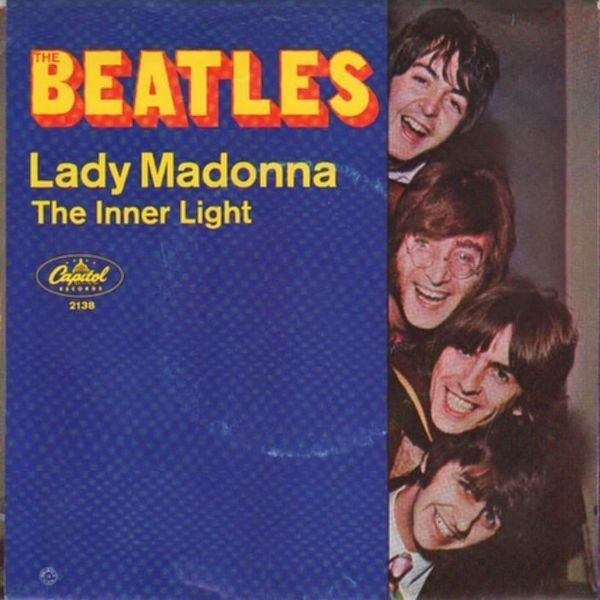 The Beatles Lady Madonna (PICTURE SLEEVE, SWIRL)