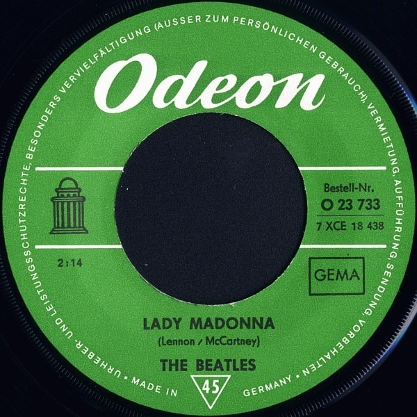 #<Artist:0x00007fce8d72e9e0> - Lady Madonna / The Inner Light