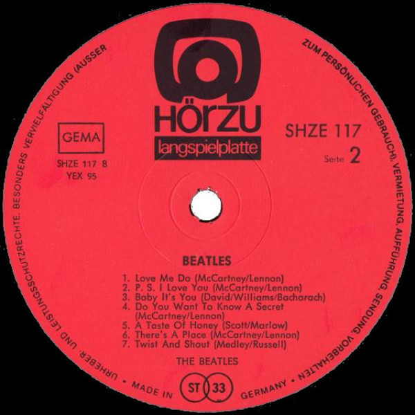 The Beatles Please Please Me Und Andere Knüller (HÖRZU)
