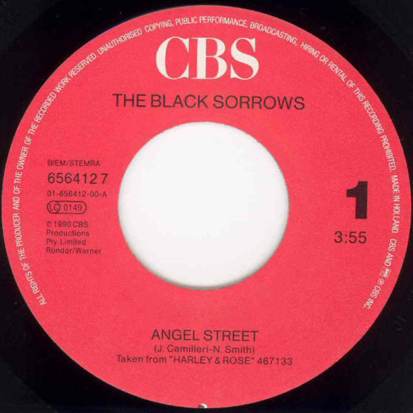 The Black Sorrows Angel Street