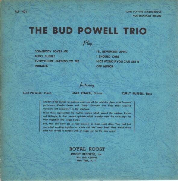 #<Artist:0x00000000048d22b0> - The Bud Powell Trio