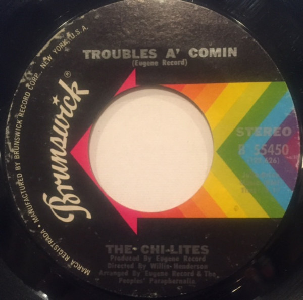 (For god's sake) give more power to the people / troubles a' comin by The  Chi-Lites, 7inch x 1 with recordsale