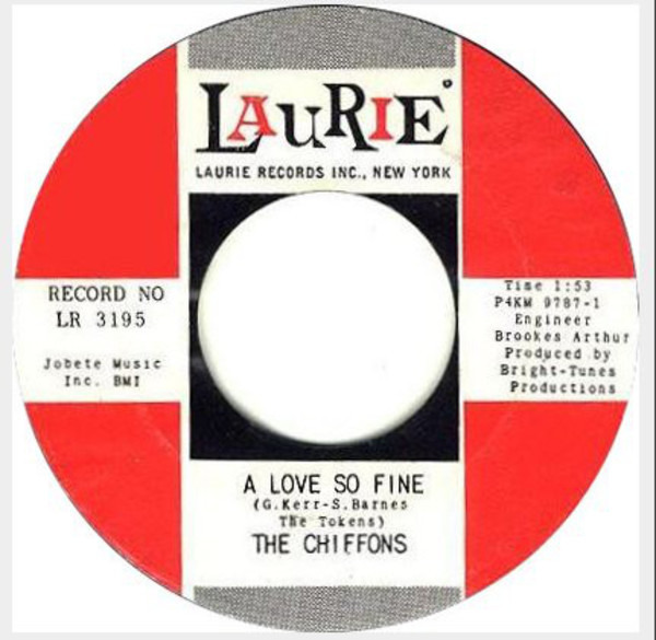 The Chiffons A Love So Fine / Only My Friend