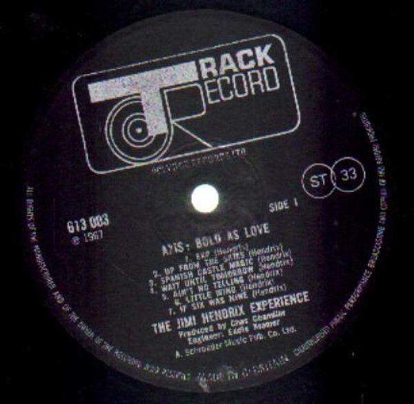 The Jimi Hendrix Experience Axis: Bold As Love (STEREO)