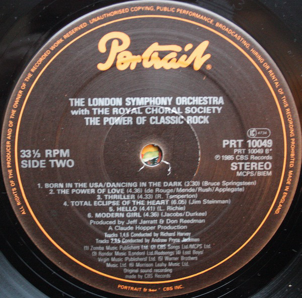 The power of classic rock by The London Symphony Orchestra With The Royal  Chora, LP with recordsale