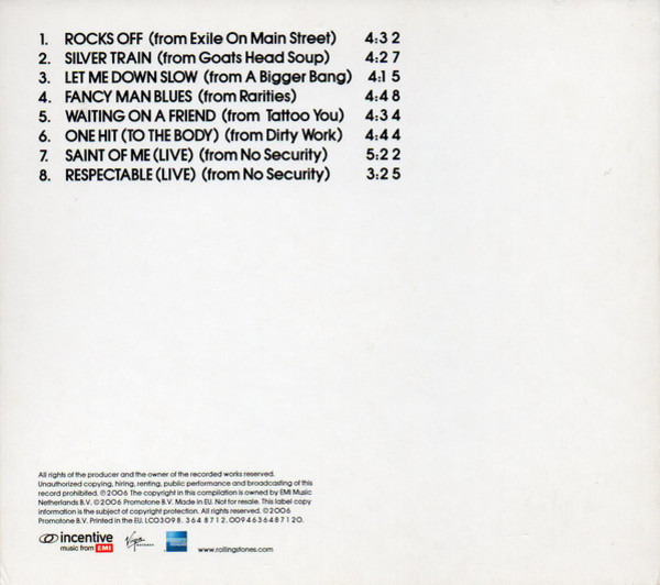The Rolling Stones 'a bigger bang' european tour 2006 sampler (digipak / promo)