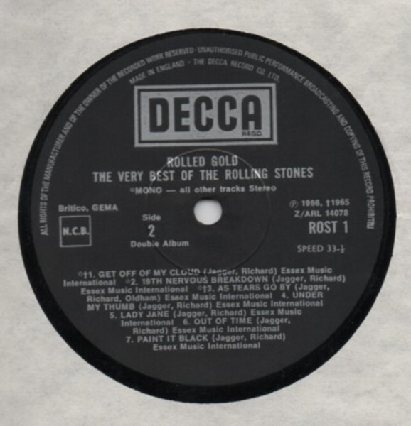 The Rolling Stones Rolled Gold - The Very Best Of The Rolling Stones