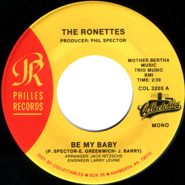 the ronettes be my baby / so young