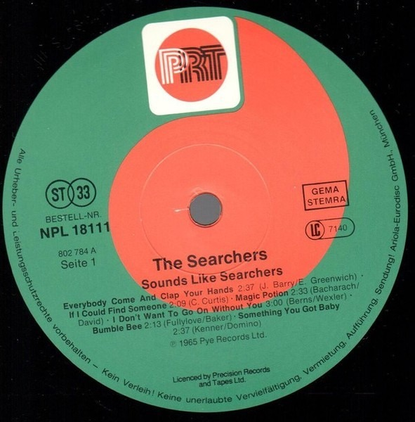 The Searchers Sounds Like Searchers Prt Vinyl Lp Ebay