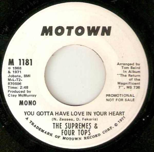 The Supremes & Four Tops You Gotta Have Love In Your Heart