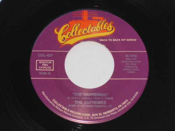 THE SUPREMES - The Happening / Reflections - 7inch x 1