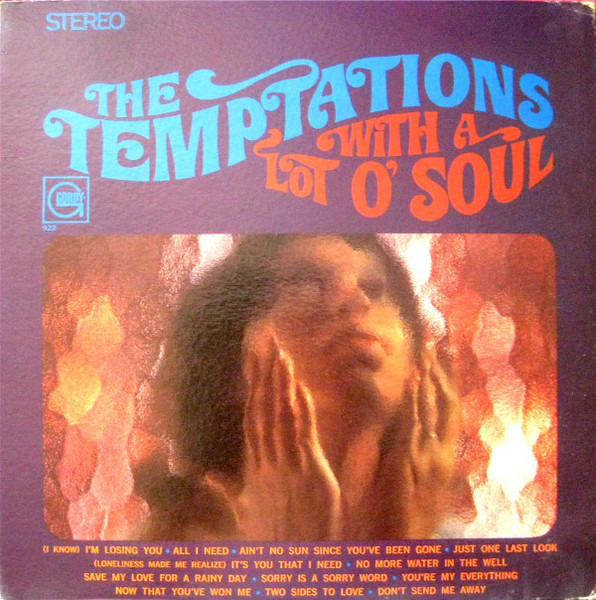 With A Lot O Soul By The Temptations Lp With Jetrecords