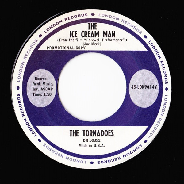 THE TORNADOS - The Ice Cream Man/Theme From 'The Scales Of Justice' - 45T x 1