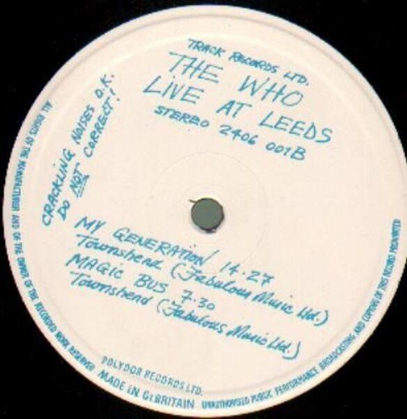 The Who Live At Leeds (ORIGINAL UK)