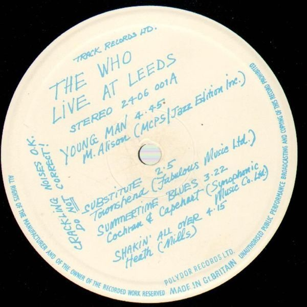 The Who Live At Leeds (9 INSETS STAPLED COVER BLUE STAMP)