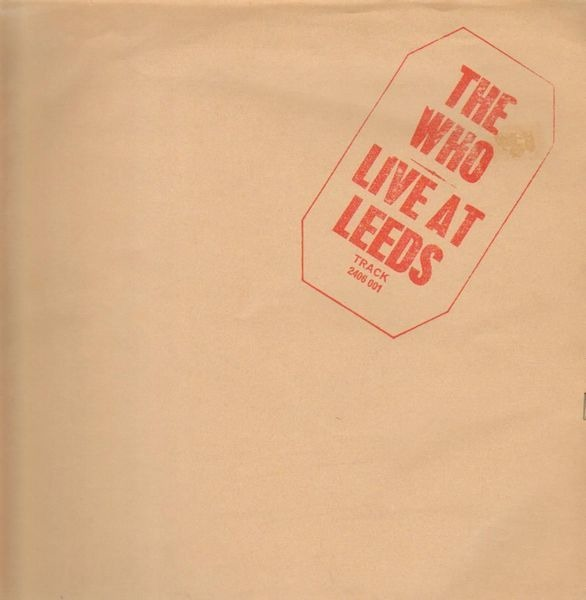 The Who live at leeds (red lettering)