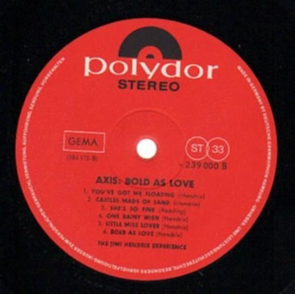 The Jimi Hendrix Experience axis: bold as love (gatefold)