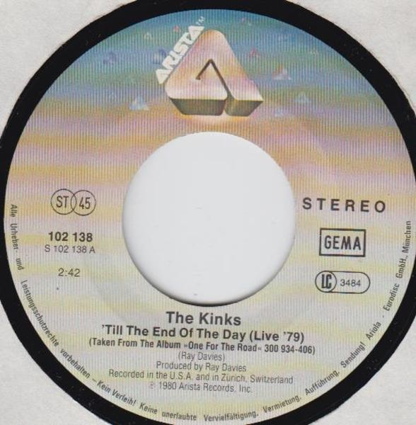The Kinks 'Till The End Of The Day (Live '79)