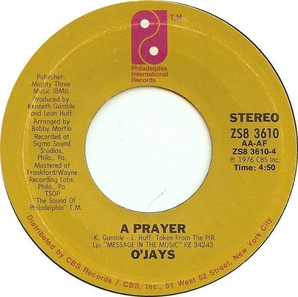 #<Artist:0x007fa43056e3f8> - Darlin' Darlin' Baby (Sweet, Tender, Love) / A Prayer