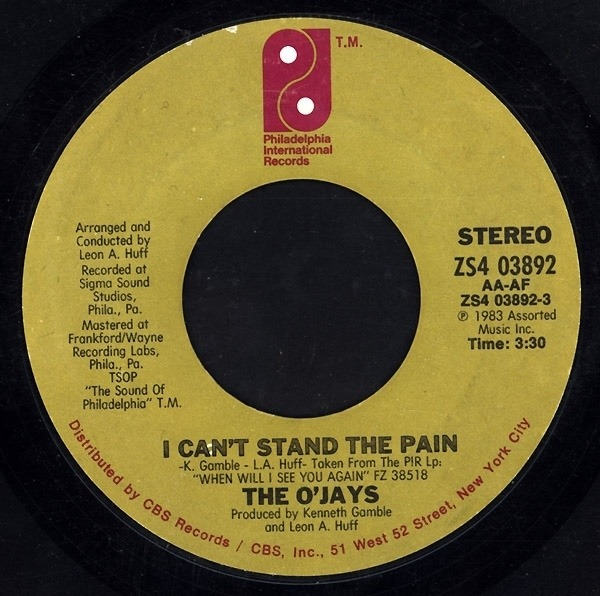 #<Artist:0x007fa44f068218> - I Can't Stand The Pain / A Letter To My Friends