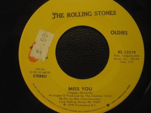 Rolling Stones - Miss You / Far Away Eyes Record
