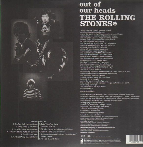 The Rolling Stones Out Of Our Heads (HQ-VINYL LIMITED)