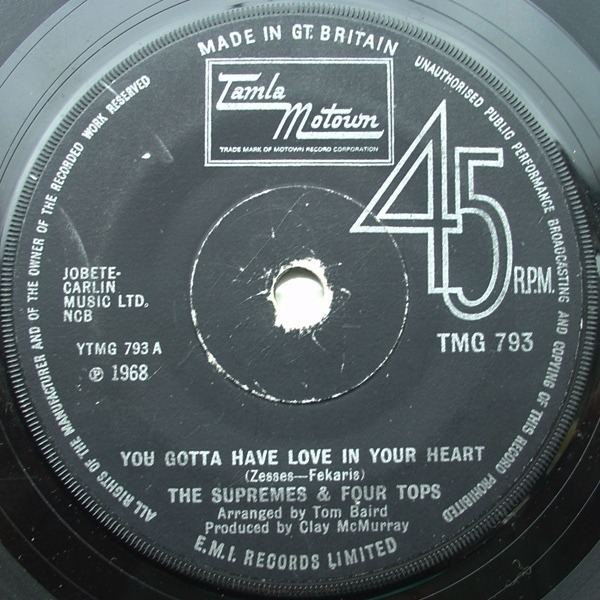 The Supremes & Four Tops You Gotta Have Love In Your Heart / I'm Glad About It
