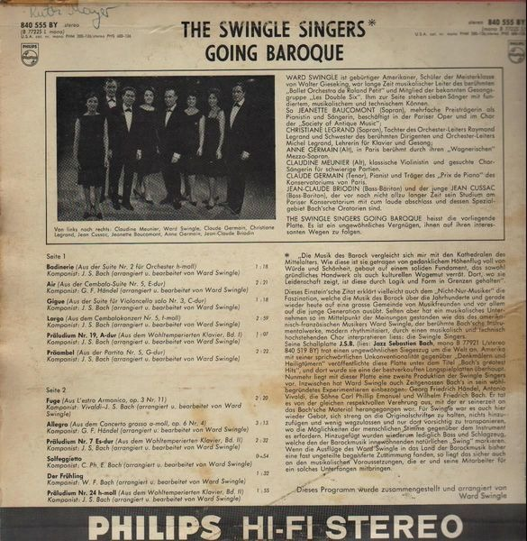 The Swingle Singers Going Baroque