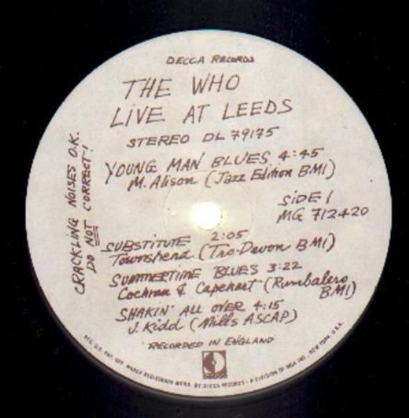 The Who live at leeds (no inserts)