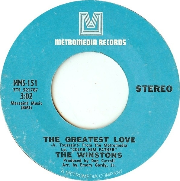 THE WINSTONS - The Greatest Love / Birds Of A Feather - 7inch x 1