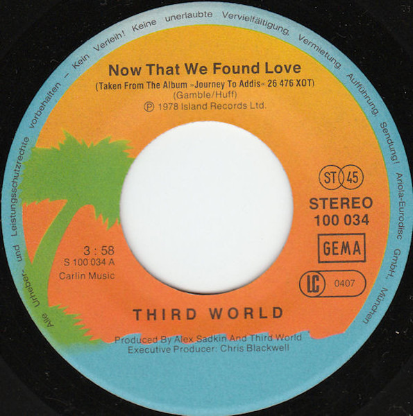 Third World Now That We Found Love