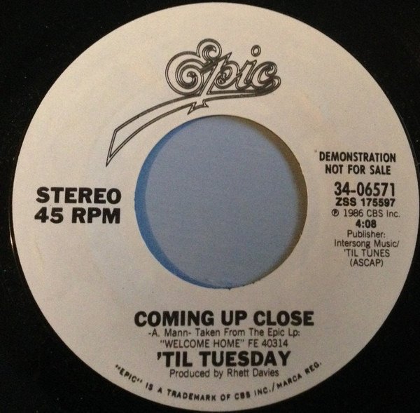 'TIL TUESDAY - Coming Up Close - 45T x 1