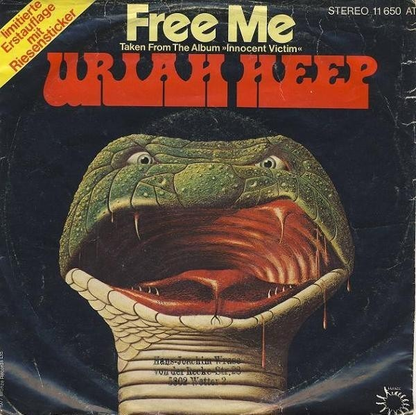 URIAH HEEP - Free Me / Masquerade - 7inch x 1