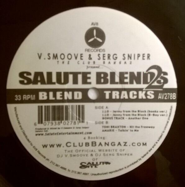 V. SMOOVE & SERG SNIPER - Salute Blends 2 (STILL SEALED) - 12 inch x 1