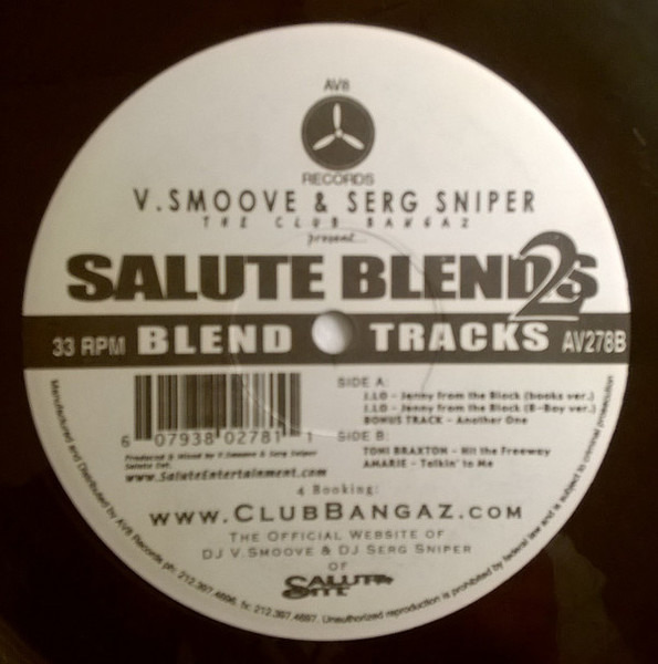 V. SMOOVE & SERG SNIPER - Salute Blends 2 - 12 inch x 1