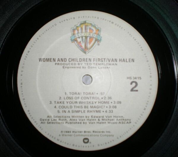 a7aaf8f0b54 ... Van Halen Women And Children First ...