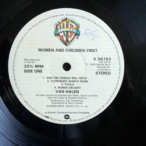 2a459ad5262 ... Van Halen Women And Children First (POSTER) ...