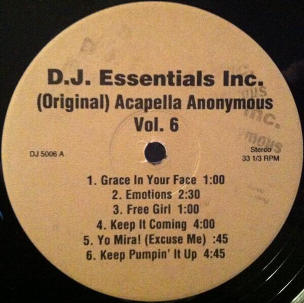 HOUSE SAMPLER - (Original) Acapella Anonymous Vol. 6 - LP
