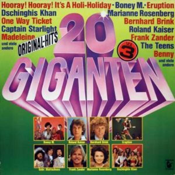 Boney M, Roland Kaiser, Frank Zander 20 Giganten Vol. 3