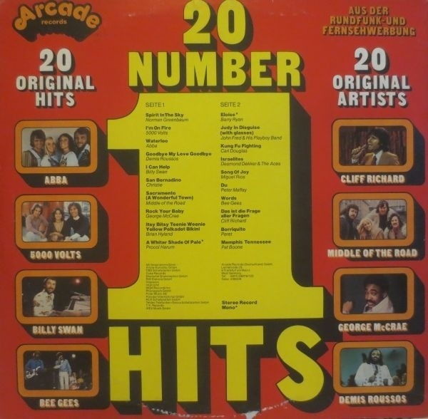 Abba, Billy Swan a.o. 20 Number 1 Hits