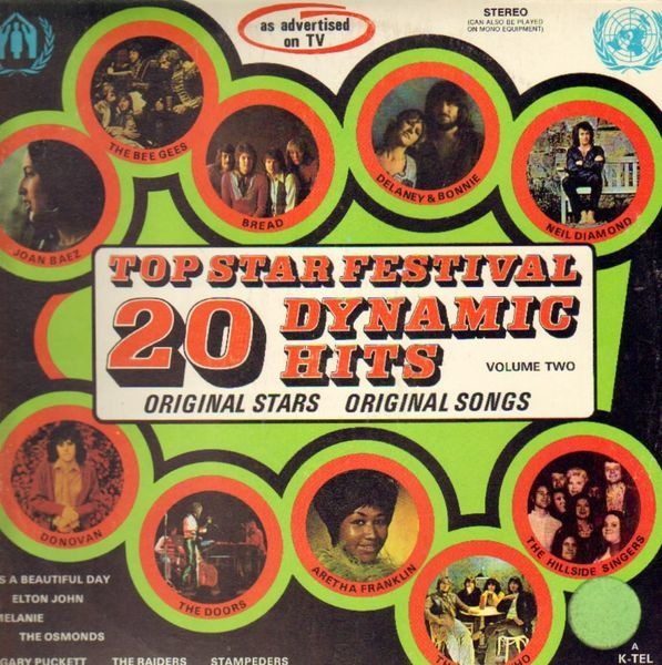 Donovan, The Doors, Aretha Franklin, The Guess Who 20 Top Star Festival Dynamic Hits Volume Two