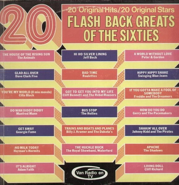 The Animals, Manfred Mann, Herman's Hermits, etc 20 Flash Back Greats Of The Sixties