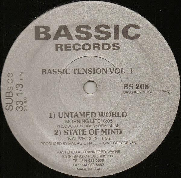 UNTAMED WORLD, STATE OF MIND, TOUCH TO TOUCH, K.M. - Bassic Tension Vol. 1 - 12 inch x 1
