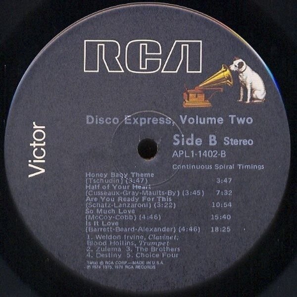 Zulema, The Choice Four, The Tymes, ... Disco Express Vol. 2