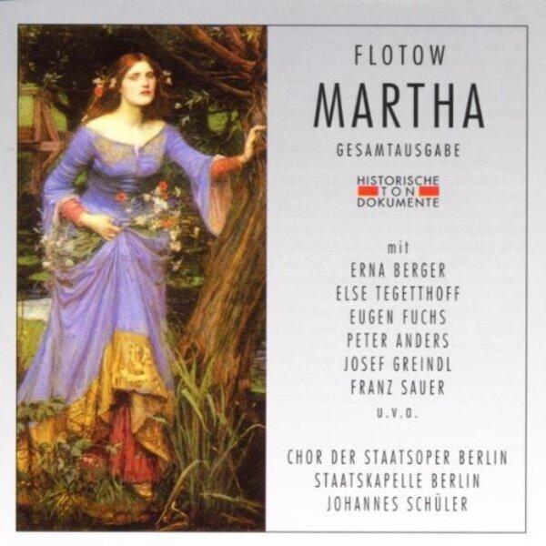 Friedrich Von Flotow Martha (Gesamtaufnahme) (Aufnahme Berlin 1944)